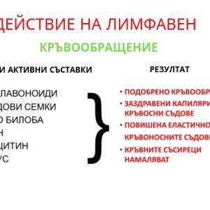 ДЕЙСТВИЕ НА ЛИМФАВЕН(1)