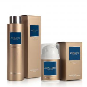 Луксозен подаръчен комплект за мъже душ гел Axolute 250ml + Гел за след бръснене Axolute 50ml