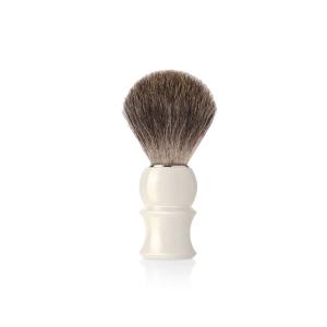 Четка за бръснене с естествен косъм от сив язовец (1)