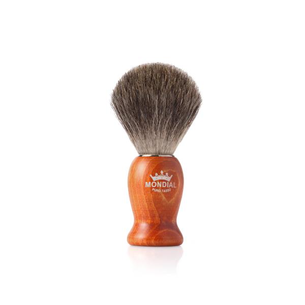 Четка за бръснене с естествен косъм от сив язовец (2)