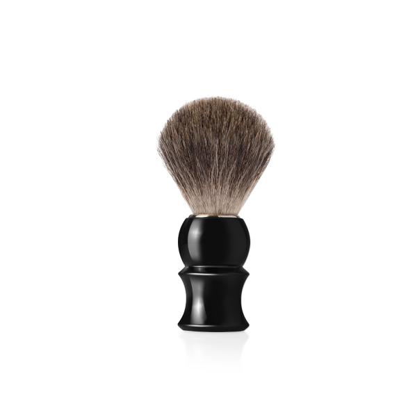 Четка за бръснене с естествен косъм от сив язовец (4)