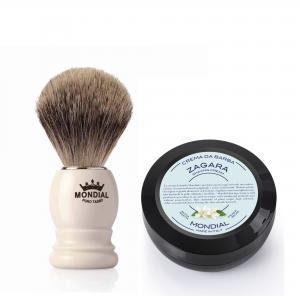 Четка за бръснене с естествен косъм от язовец Fine Badger