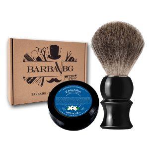Четка за бръснене GRAY Badger + ПОДАРЪК 2