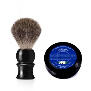 Четка за бръснене с естествен косъм Gray Badger + подарък