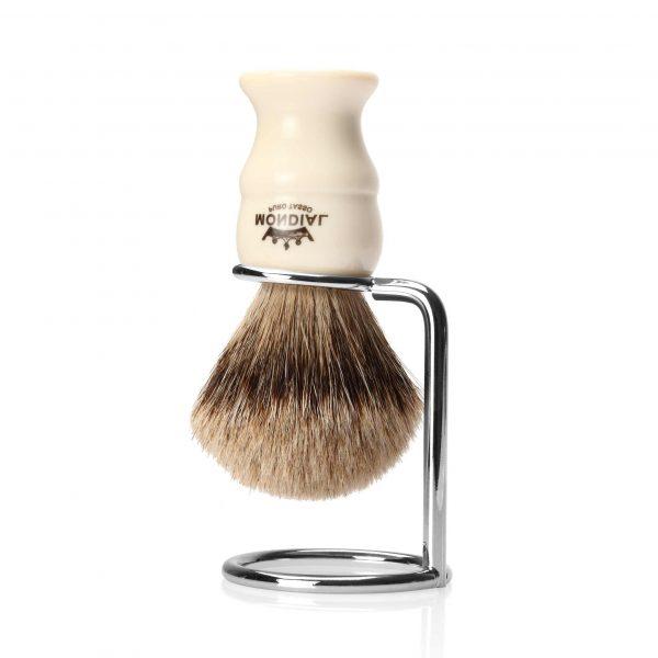 Вертикална, метална поставка за четка за бръснене. Дизайнерска ръчна изработка.