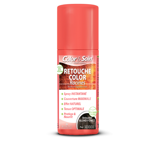 Цветен спрей за коса тъмно рус Color&Soin